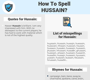 Hussain, spellcheck Hussain, how to spell Hussain, how do you spell Hussain, correct spelling for Hussain