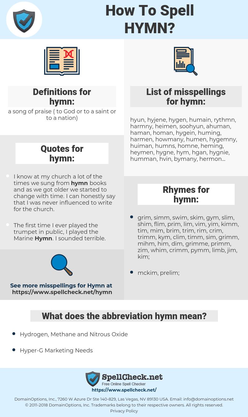 hymn, spellcheck hymn, how to spell hymn, how do you spell hymn, correct spelling for hymn