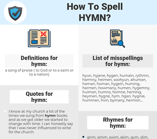 hymn, spellcheck hymn, how to spell hymn, how do you spell hymn, correct spelling for hymn