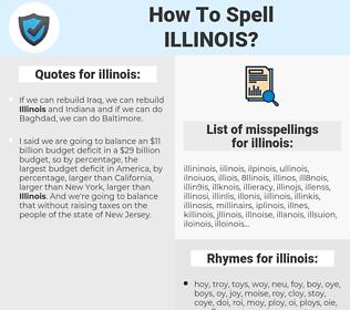 illinois, spellcheck illinois, how to spell illinois, how do you spell illinois, correct spelling for illinois