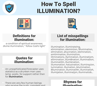 illumination, spellcheck illumination, how to spell illumination, how do you spell illumination, correct spelling for illumination