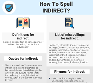 indirect, spellcheck indirect, how to spell indirect, how do you spell indirect, correct spelling for indirect