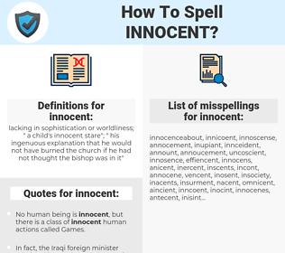 innocent, spellcheck innocent, how to spell innocent, how do you spell innocent, correct spelling for innocent