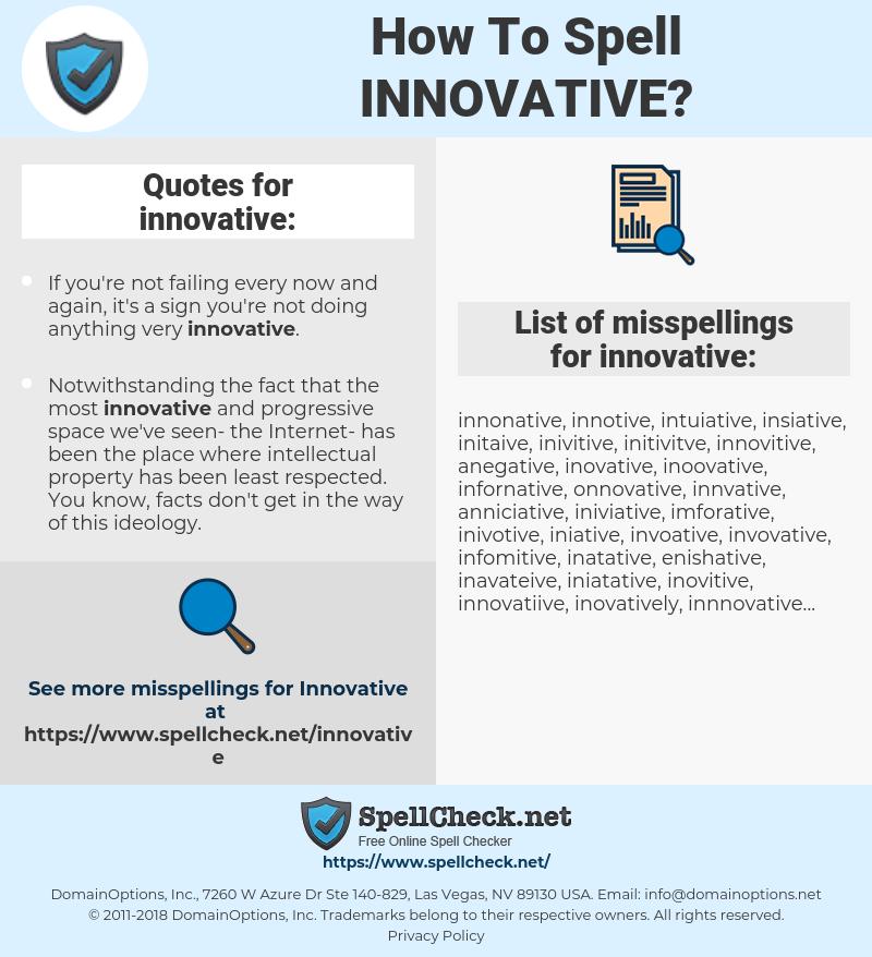 innovative, spellcheck innovative, how to spell innovative, how do you spell innovative, correct spelling for innovative