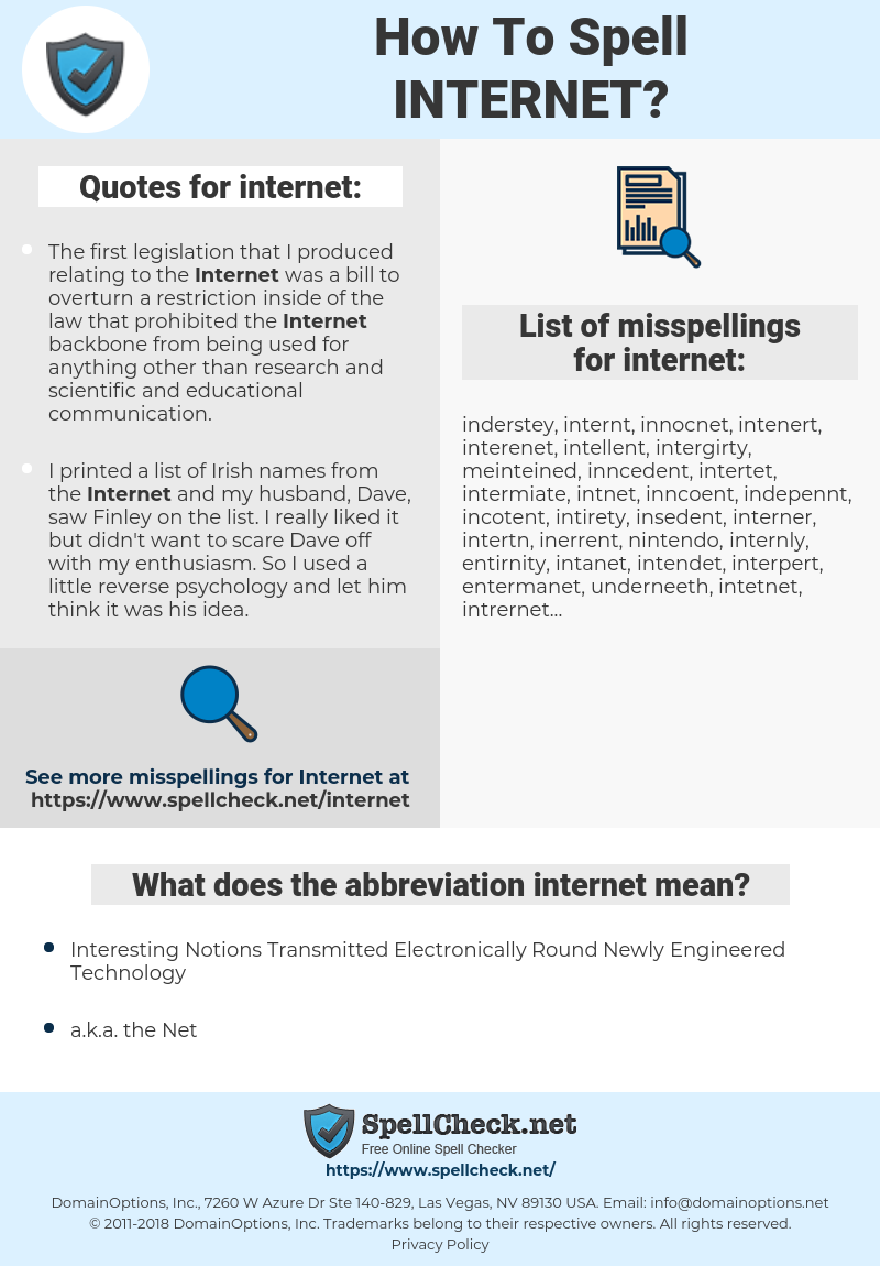 internet, spellcheck internet, how to spell internet, how do you spell internet, correct spelling for internet