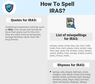 IRAS, spellcheck IRAS, how to spell IRAS, how do you spell IRAS, correct spelling for IRAS