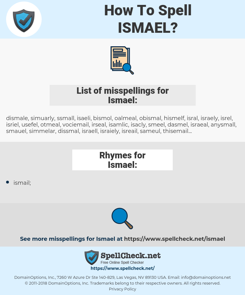 Ismael, spellcheck Ismael, how to spell Ismael, how do you spell Ismael, correct spelling for Ismael