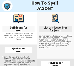 jason, spellcheck jason, how to spell jason, how do you spell jason, correct spelling for jason