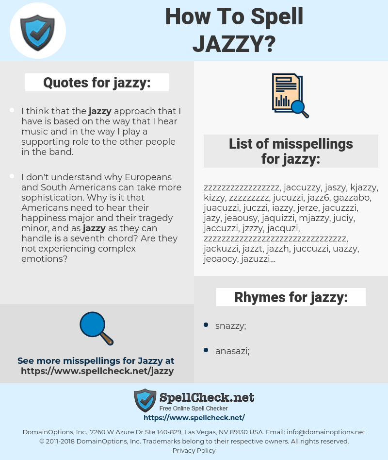 jazzy, spellcheck jazzy, how to spell jazzy, how do you spell jazzy, correct spelling for jazzy