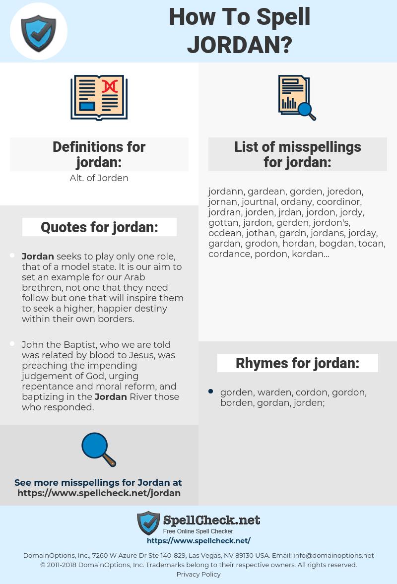 jordan, spellcheck jordan, how to spell jordan, how do you spell jordan, correct spelling for jordan