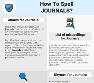 Journals, spellcheck Journals, how to spell Journals, how do you spell Journals, correct spelling for Journals