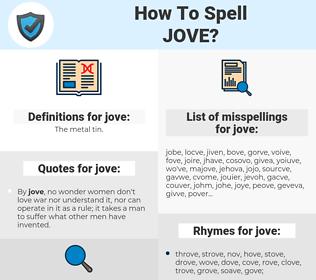 jove, spellcheck jove, how to spell jove, how do you spell jove, correct spelling for jove