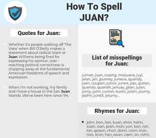Juan, spellcheck Juan, how to spell Juan, how do you spell Juan, correct spelling for Juan