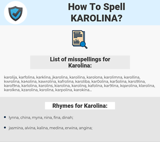 Karolina, spellcheck Karolina, how to spell Karolina, how do you spell Karolina, correct spelling for Karolina