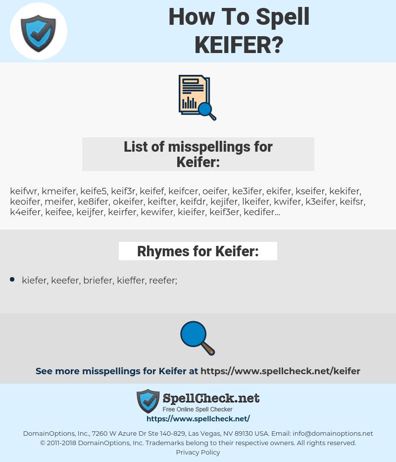 Keifer, spellcheck Keifer, how to spell Keifer, how do you spell Keifer, correct spelling for Keifer