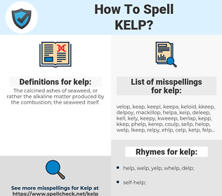 kelp, spellcheck kelp, how to spell kelp, how do you spell kelp, correct spelling for kelp