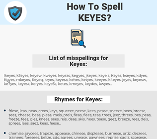Keyes, spellcheck Keyes, how to spell Keyes, how do you spell Keyes, correct spelling for Keyes