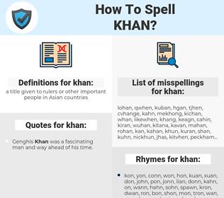 khan, spellcheck khan, how to spell khan, how do you spell khan, correct spelling for khan