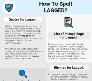 Lagged, spellcheck Lagged, how to spell Lagged, how do you spell Lagged, correct spelling for Lagged