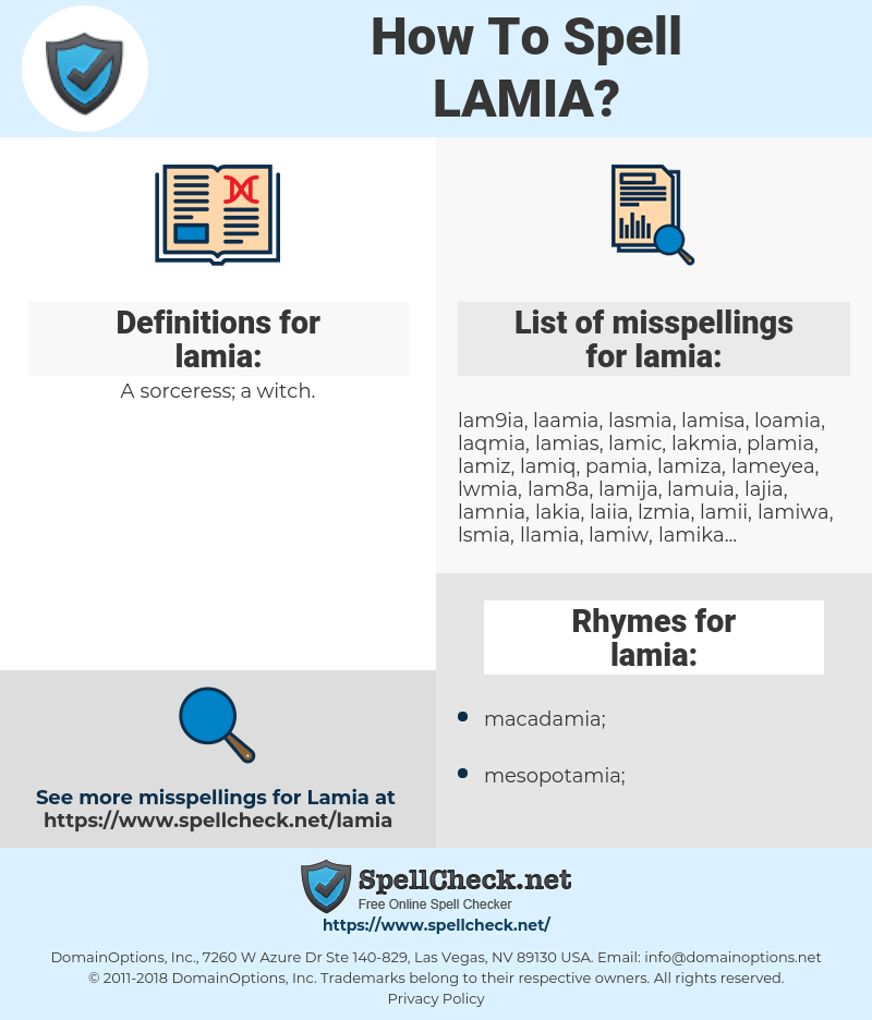 lamia, spellcheck lamia, how to spell lamia, how do you spell lamia, correct spelling for lamia