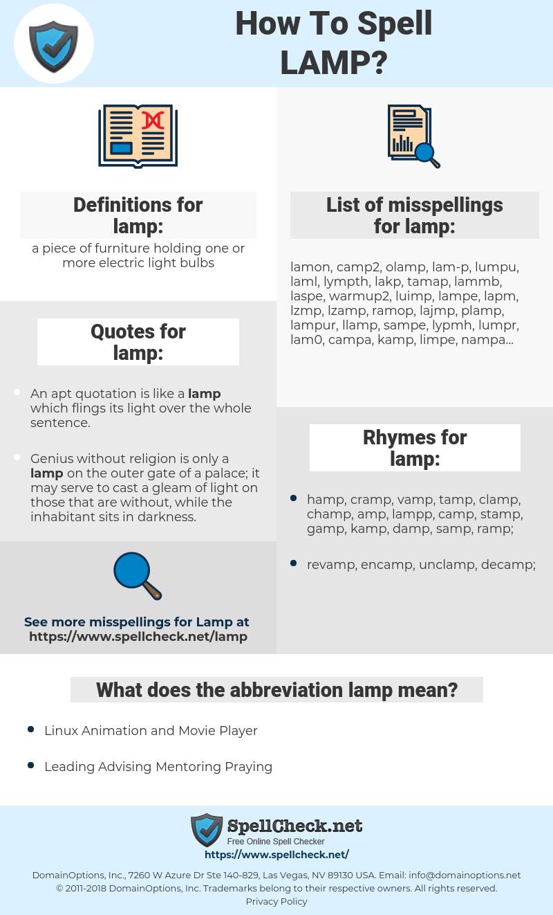 lamp, spellcheck lamp, how to spell lamp, how do you spell lamp, correct spelling for lamp