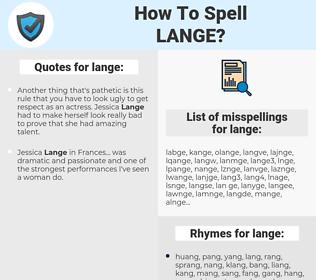 lange, spellcheck lange, how to spell lange, how do you spell lange, correct spelling for lange