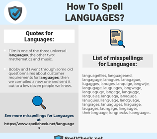 Languages, spellcheck Languages, how to spell Languages, how do you spell Languages, correct spelling for Languages