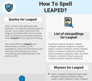 Leaped, spellcheck Leaped, how to spell Leaped, how do you spell Leaped, correct spelling for Leaped