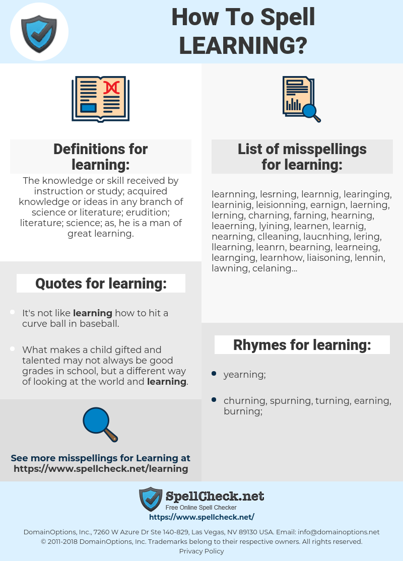 learning, spellcheck learning, how to spell learning, how do you spell learning, correct spelling for learning
