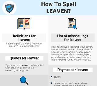 leaven, spellcheck leaven, how to spell leaven, how do you spell leaven, correct spelling for leaven