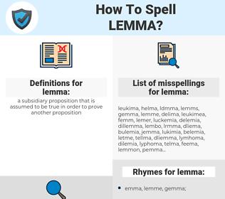 lemma, spellcheck lemma, how to spell lemma, how do you spell lemma, correct spelling for lemma