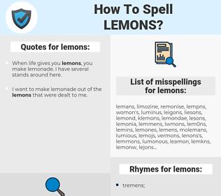 lemons, spellcheck lemons, how to spell lemons, how do you spell lemons, correct spelling for lemons