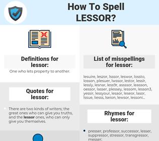lessor, spellcheck lessor, how to spell lessor, how do you spell lessor, correct spelling for lessor