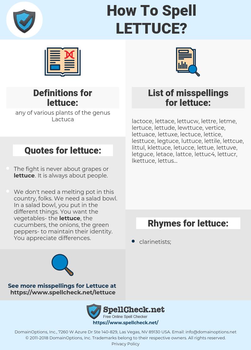 lettuce, spellcheck lettuce, how to spell lettuce, how do you spell lettuce, correct spelling for lettuce