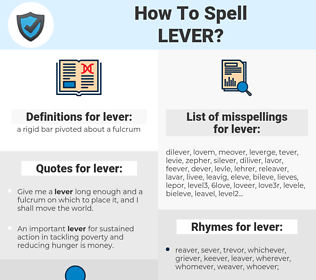 lever, spellcheck lever, how to spell lever, how do you spell lever, correct spelling for lever