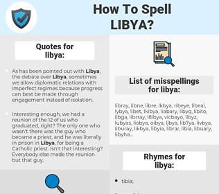 libya, spellcheck libya, how to spell libya, how do you spell libya, correct spelling for libya