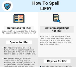 life, spellcheck life, how to spell life, how do you spell life, correct spelling for life