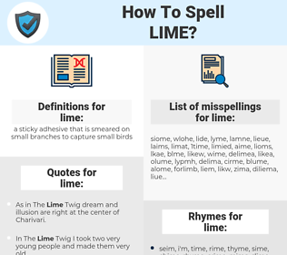 lime, spellcheck lime, how to spell lime, how do you spell lime, correct spelling for lime