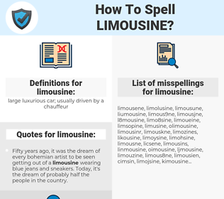 limousine, spellcheck limousine, how to spell limousine, how do you spell limousine, correct spelling for limousine