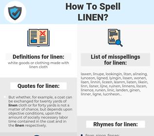linen, spellcheck linen, how to spell linen, how do you spell linen, correct spelling for linen