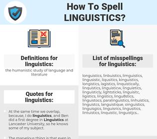 linguistics, spellcheck linguistics, how to spell linguistics, how do you spell linguistics, correct spelling for linguistics