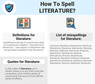 literature, spellcheck literature, how to spell literature, how do you spell literature, correct spelling for literature