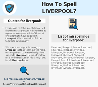 liverpool, spellcheck liverpool, how to spell liverpool, how do you spell liverpool, correct spelling for liverpool