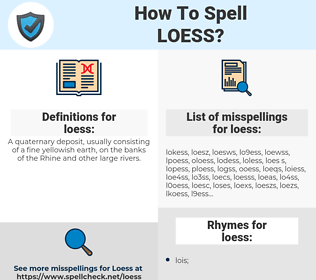 loess, spellcheck loess, how to spell loess, how do you spell loess, correct spelling for loess