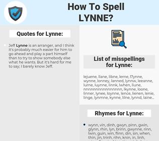 Lynne, spellcheck Lynne, how to spell Lynne, how do you spell Lynne, correct spelling for Lynne