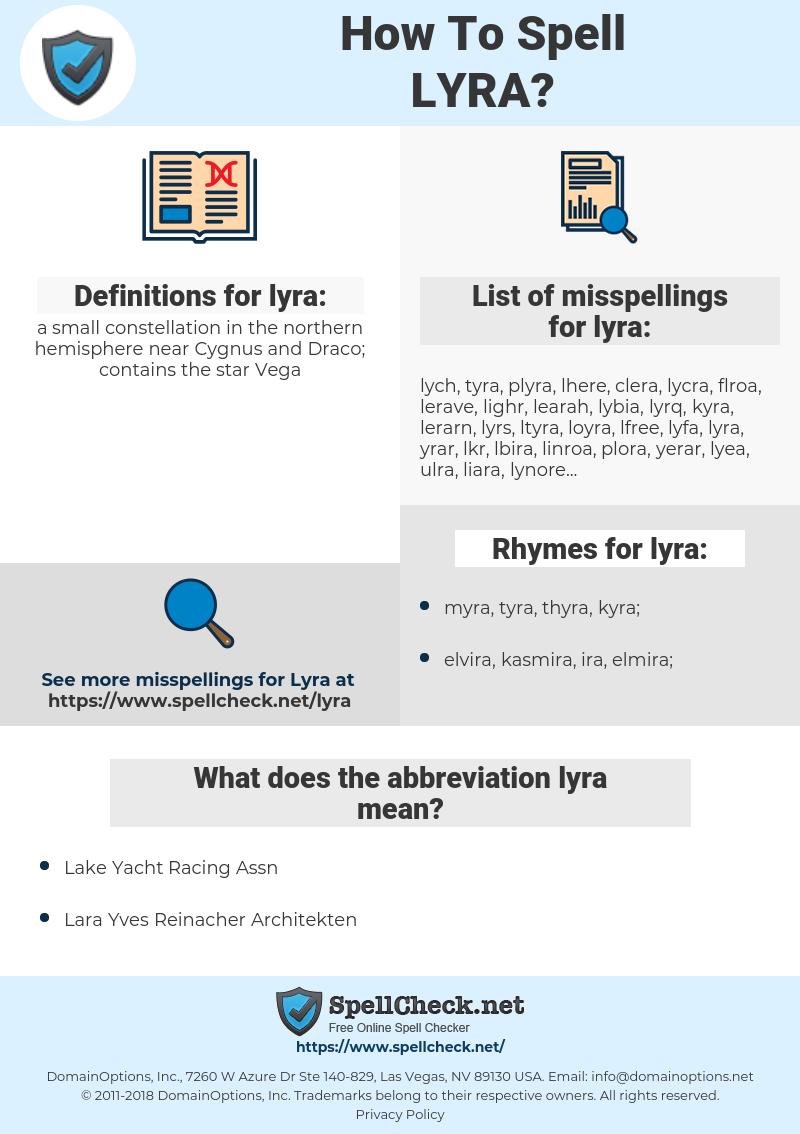 lyra, spellcheck lyra, how to spell lyra, how do you spell lyra, correct spelling for lyra