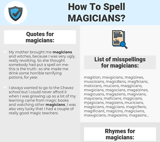 magicians, spellcheck magicians, how to spell magicians, how do you spell magicians, correct spelling for magicians