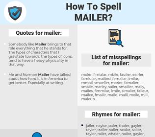 mailer, spellcheck mailer, how to spell mailer, how do you spell mailer, correct spelling for mailer
