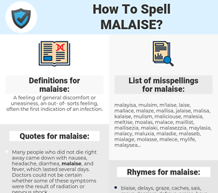 malaise, spellcheck malaise, how to spell malaise, how do you spell malaise, correct spelling for malaise