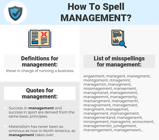 management, spellcheck management, how to spell management, how do you spell management, correct spelling for management